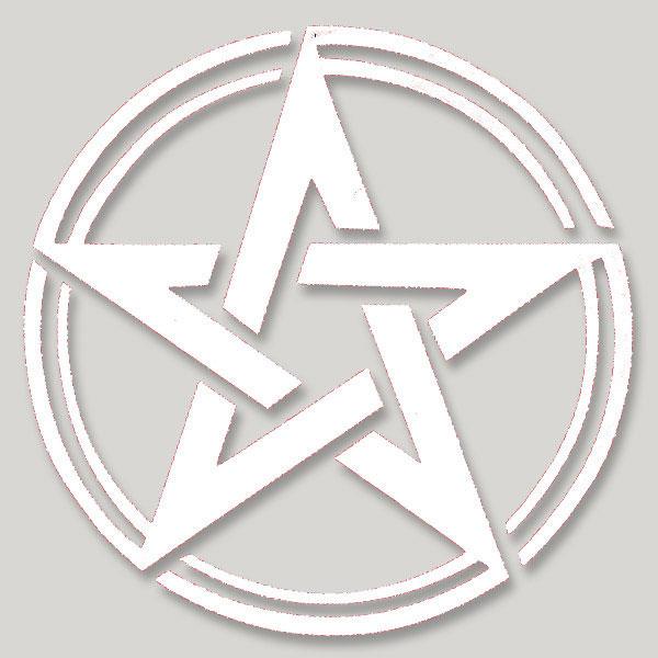 Pagan Wiccan Pentacle Pentagram Symbol Large Vinyl Cutout