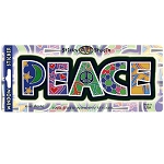 A011 - Peace Letters Art Decal Window Sticker
