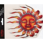 A026 - Blowing Sun Art Decal Window Sticker