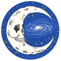 A276 - Skull Moon Art Decal Window Sticker
