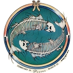 A279 - Pisces Grateful Dead Skeleton Art Decal Window Sticker