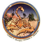 A282 - Scorpio Grateful Dead Skeleton Art Decal Window Sticker
