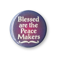 B376 - Blessed Are The Peacemakers Button