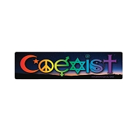 CM053 - Coexist Twilight Interfaith Color Mini Sticker