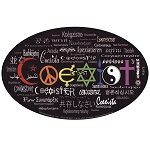 CS005 - Coexist in 55 Languages Full Color Bumper Sticker