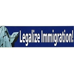 CS029 - Legalize Immigration Large Full Color Bumper Sticker