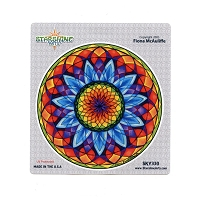 CS165 - Sacred Sunflower Mandala Color Sticker