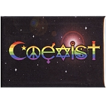 FM009 - Rainbow Coexist Fridge Magnet