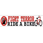 MS110 - Fight Terror, Ride a Bike Eco Mini Sticker