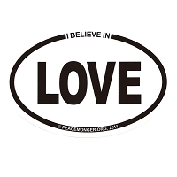 OS006 - I Believe in LOVE Oval ID Sticker