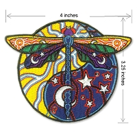 P231 - Cosmic Dragonfly Yin/Yang Patch