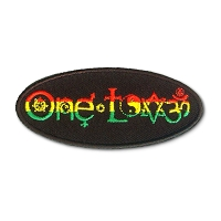 P234 - One Love Rasta Symbols Patch