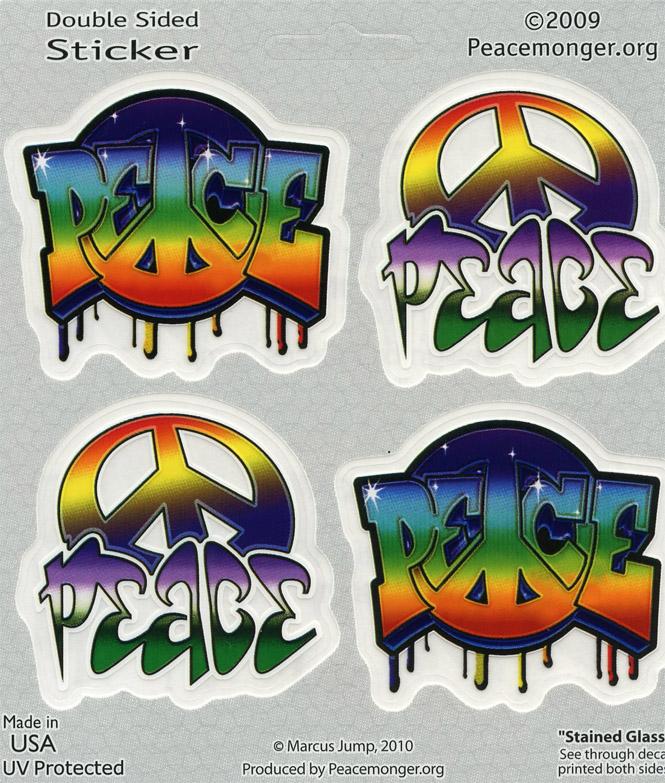 A338 Small Graffiti Peace Designs Art Decal Window Sticker  eBay