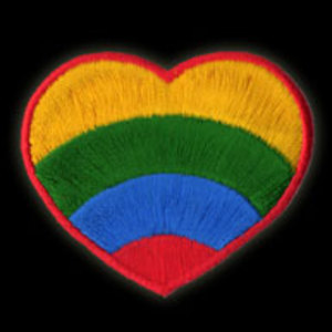 P105 - Rainbow Heart Patch