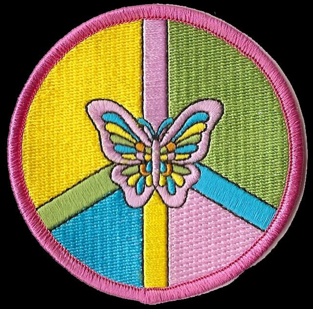 Symbole de la Paix  - Page 3 P132_-_Peace_Symbol_Butterfly_Patch