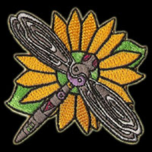 P093 - Dragonfly Yin/Yang Flower Patch