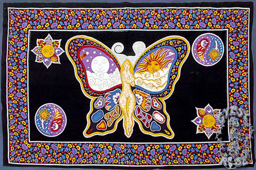 ... , Flags and Tapestries > Tapestries > TA04 - Sun/Moon Fairy Tapestry