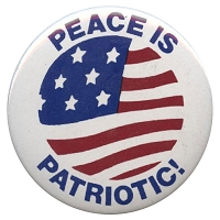 B188 - Peace Is Patriotic Button
