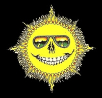 MA04 - Skeleton Sun Mini Art Decal Window Sticker