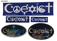 S001-PACK - Coexist Interfaith Stickers Bundle
