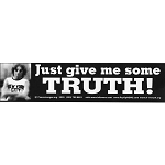 S019 - Just Give Me Some Truth - John Lennon Quote Bumper Sticker