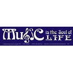 S193 - Music is the Soul of Life Bumper Sticker