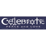 S542 - Celebrate Peace and Love Original Peacemonger Large Bumper Sticker