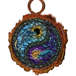 SC003 - Dolphin Yin Yang Copper Sun Catcher
