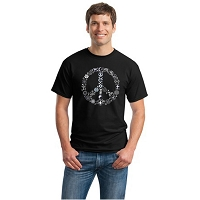 T003 - Coexist Peace Symbol Interfaith Unisex T-shirt