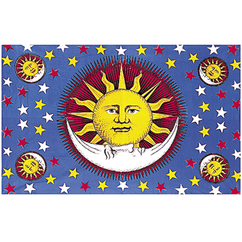 ... , Flags and Tapestries > Tapestries > TA13 - Sun/Moon/Stars Tapestry