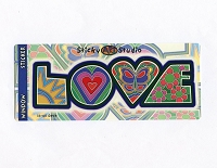 A021 - Love Letters Art Decal Window Sticker