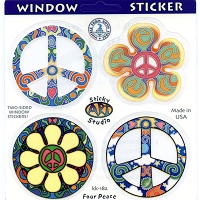 A134 - Psychedelic Peace Multi Art Decal  Window Sticker