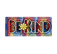 A412 - Be Kind Tie Dye Art Decal Window Sticker
