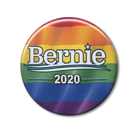 B490 - Bernie 2020 Rainbow Pride Button