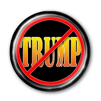 B491A - NO TRUMP (Name) Anti Trump Button