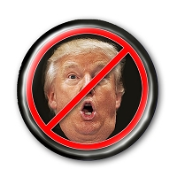 B491C - NO TRUMP (Monkey Face) Anti Trump Button