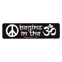 CM057 - Peace begins in the OM Color Mini Sticker
