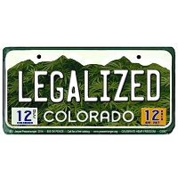 CS007 - Legalized Colorado Cannabis Hemp License Plate Color Sticker