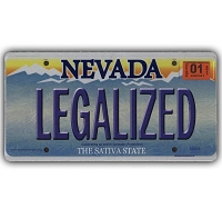 CS007B - LEGALIZED Nevada Cannabis Hemp License Plate Color Sticker