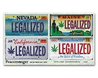 CS007E - LEGALIZED CA-MA-ME-NV License Plates Color Sticker 4-Pack
