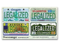 CS007F - LEGALIZED CO-WA-OR-AK License Plates Color Sticker 4-Pack