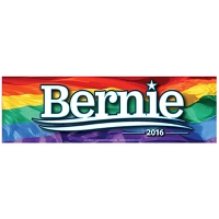 CS155-L - Bernie Sanders 2016 Rainbow Color Sticker