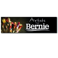 CS155-S - Artists for Bernie Color Sticker