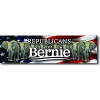 CS155-V - Republicans for Bernie Color Sticker