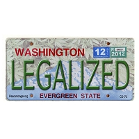 CS172 - Legalized Washington Cannabis Hemp License Plate Color Sticker