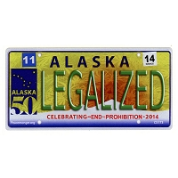 CS173 - Legalized Alaska Cannabis Hemp License Plate Color Sticker