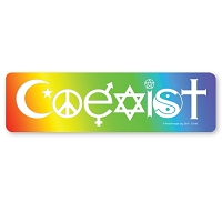 CS193 - Coexist in a Rainbow Interfaith Color Sticker