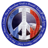CS201-C - Peace in France Interfaith Coexist Flag Sticker