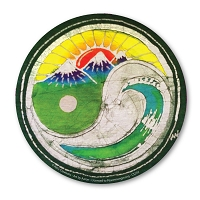 CS243 - Sunset Wave Yin Yang Batik Color Sticker