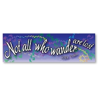 CS246 - Not All Who Wander are Lost Color Sticker - JRR Tolkien Quote